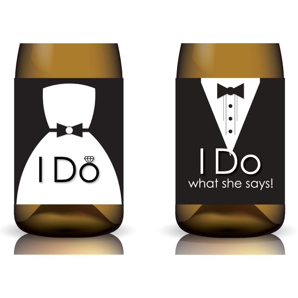 I Do & I Do What She Says Printable Wedding Wine Label Set by ...