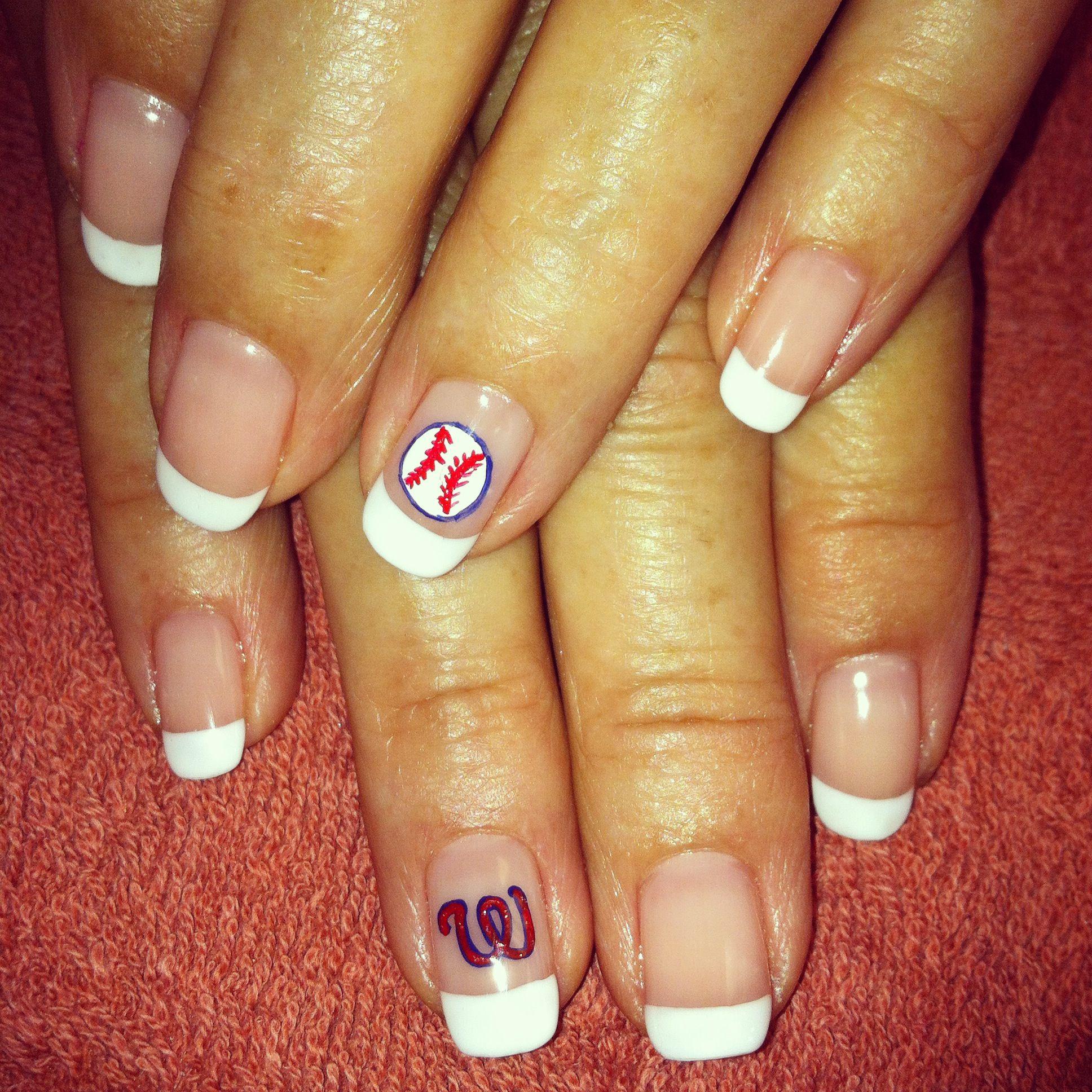 Washington Nationals nail art. Baseball nails. www.facebook.com ...
