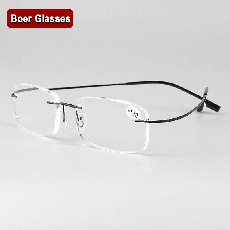 Barato Gafas Flexibles De Titanio De Memoria Sin Montura Para Leer