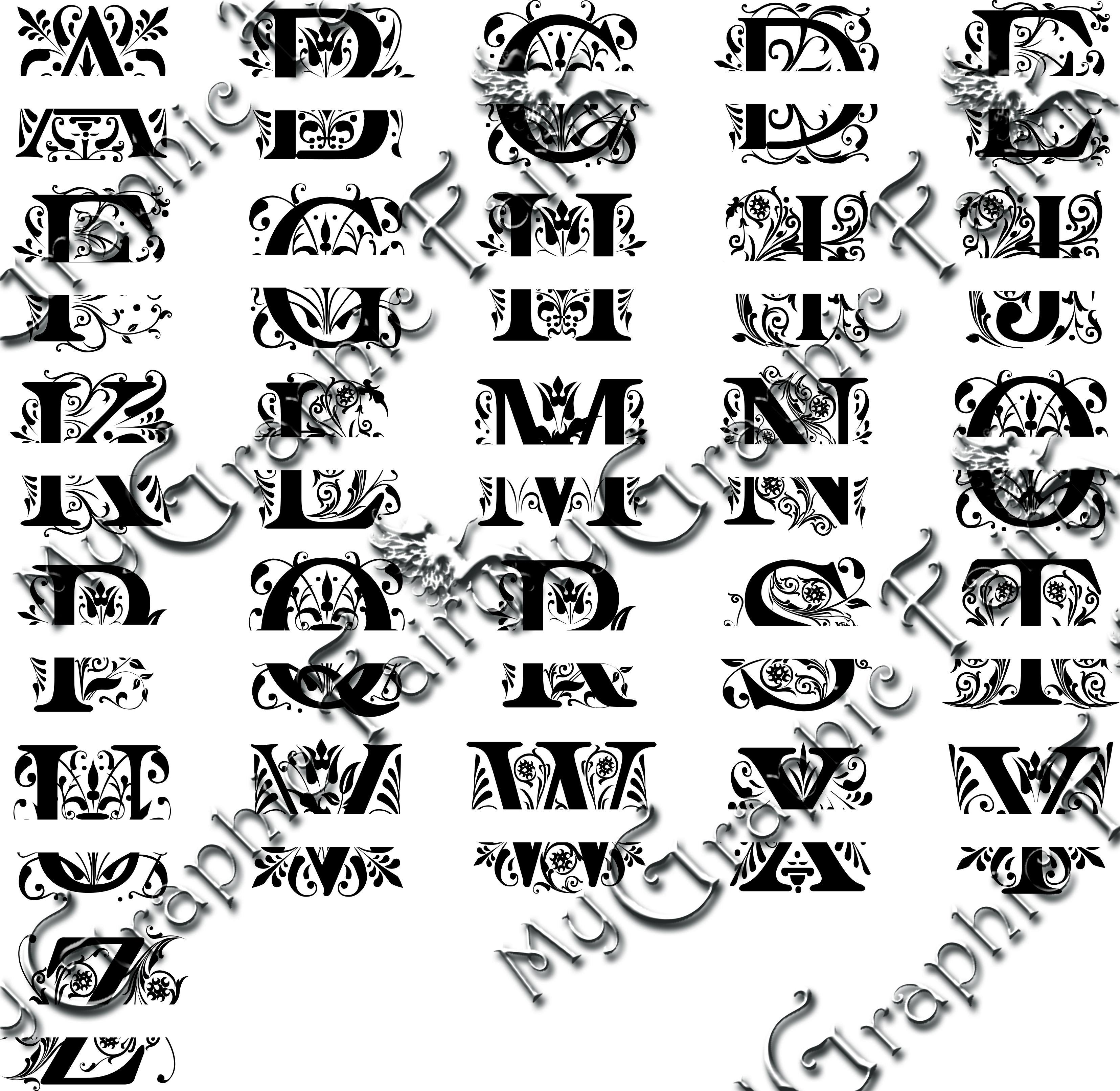 Regal Font Split Monogram SVG Cricut monogram, Cricut