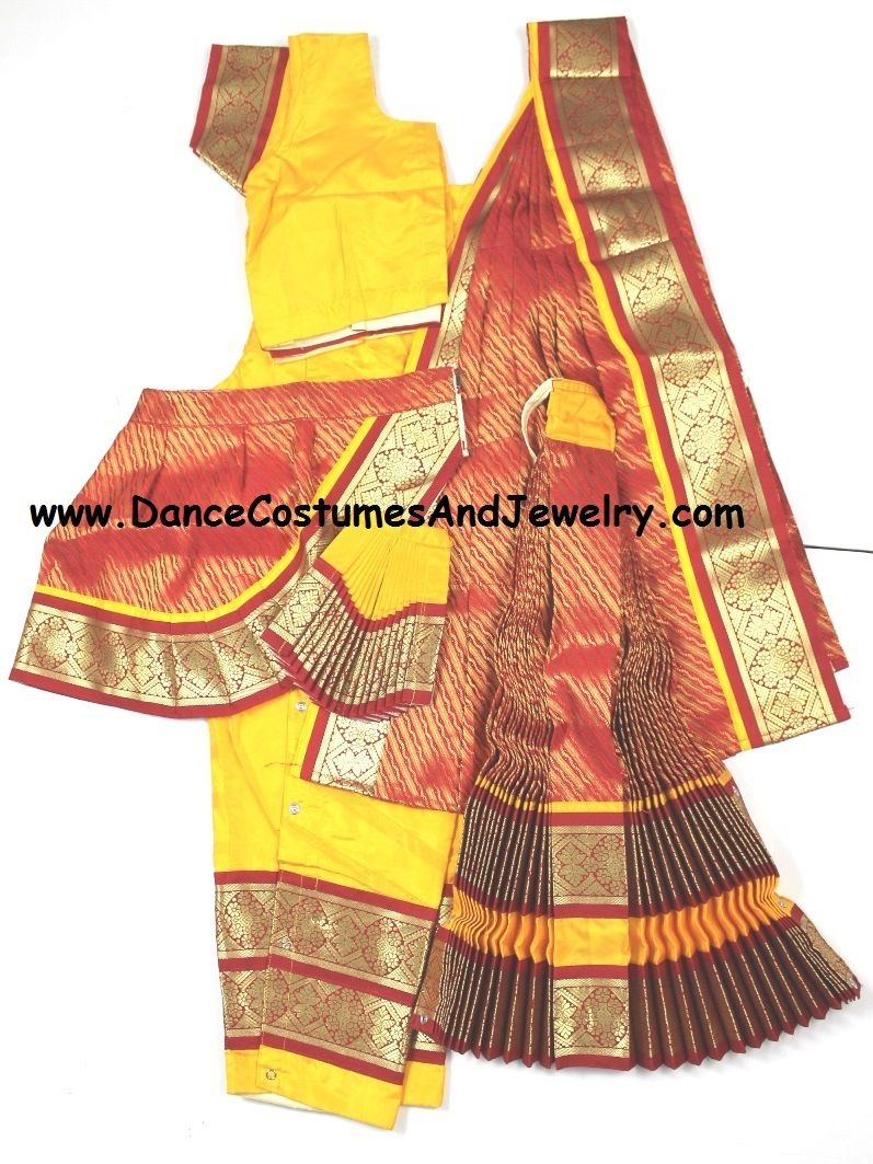 Readymade Bharatanatyam dress Brocade design YelRed34  sc 1 st  Pinterest : readymade bharatanatyam costume  - Germanpascual.Com