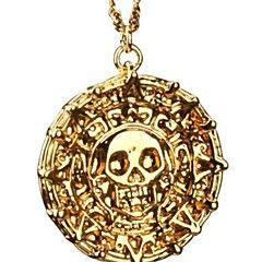 Pirates Of The Caribbean Aztec Antieke Gouden schedel hanger ketting Overdreven Men Fashion Vintage Ketting