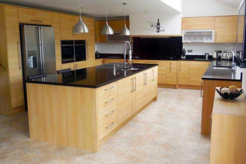 Best An Innova Cento Oak Modern Kitchen Home Kitchens 400 x 300