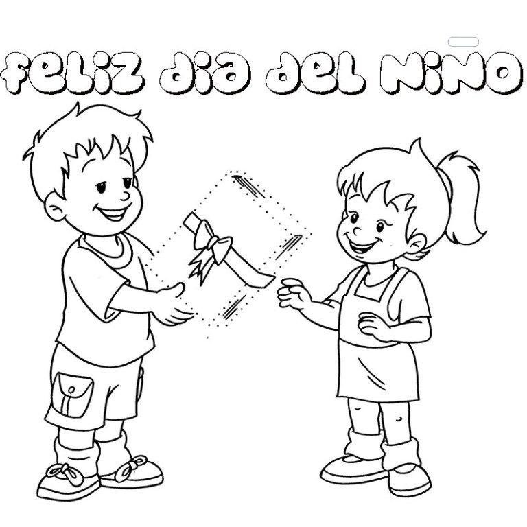 Dibujos Para Colorear Y Pintar Feliz Dia Del Nino Dia Del Nino Dibujos Dia Del Nino Ninos