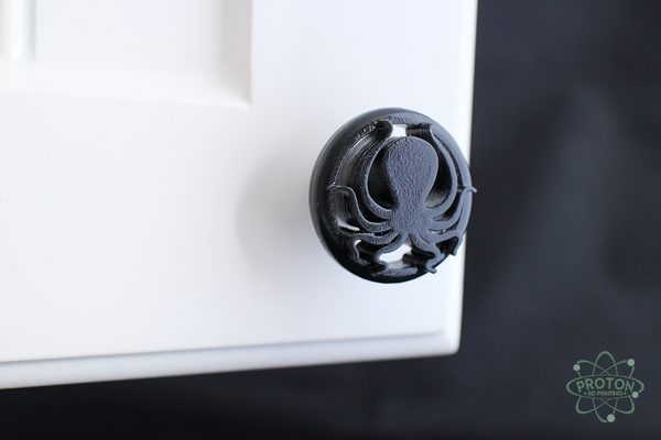 3D Printed Nautical Octopus Cabinet Knobs Are Beach Inspired Home Hardware  With Your Choice Of Color