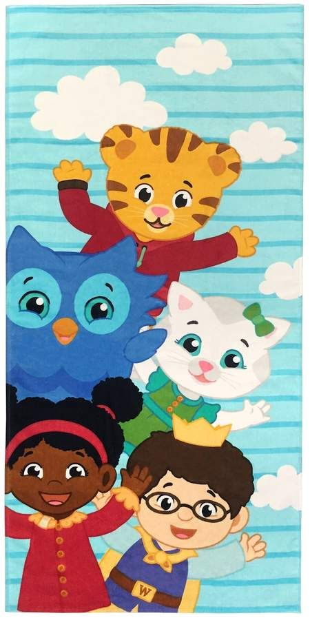 Daniel Tiger Friendly Neighbors Beach Towel In 2020 Beach Towel