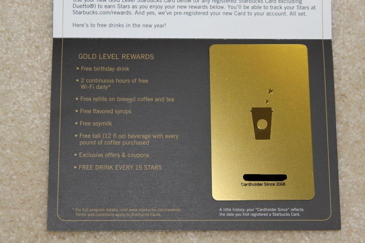 Starbucks Gold Card Refills Cardss