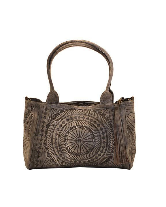 New And Gorgeous Leaders In Leather Moroccan Tooled Satchel Slate Hand Genuine Bag Find It At Lufli Leatherhandbags