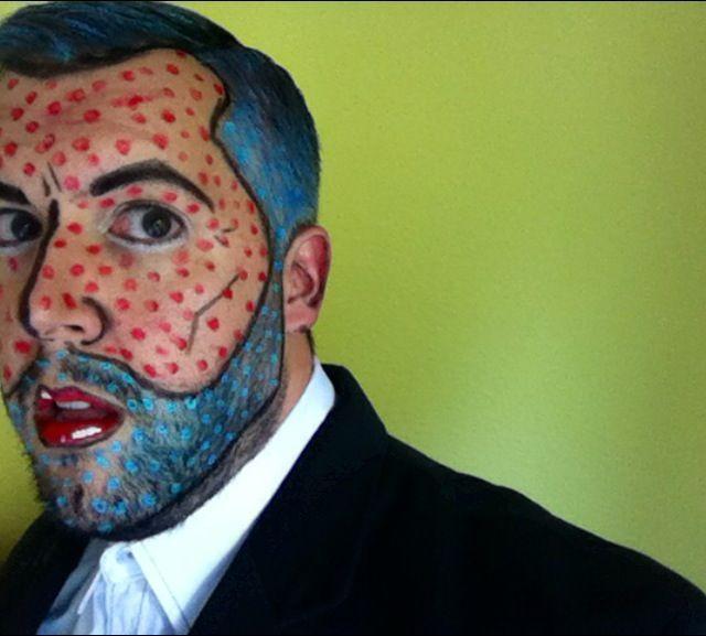Roy Lichtenstein Halloween Costume.Roy Lichtenstein Costume Men