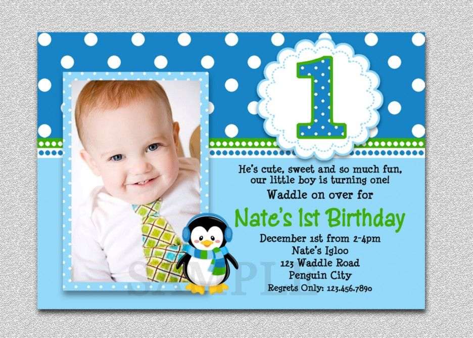 first birthday invitation cards