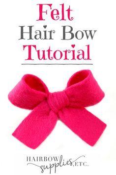 How to Make Felt Hair Bows