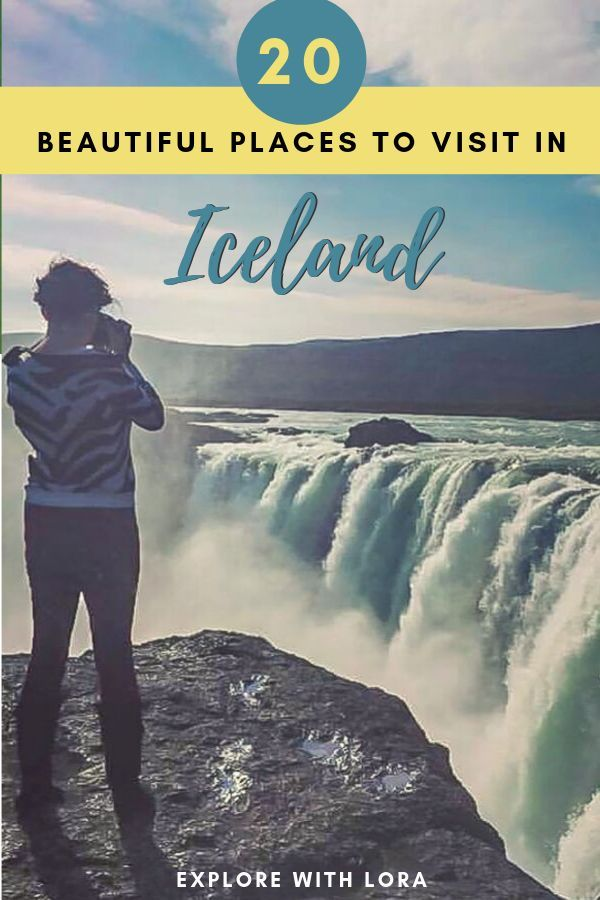 Iceland is one of the most beautiful countries in the world. Discover 20 amazing places that will make you want to visit Iceland. You'll want to add these attractions to your Iceland bucket list! #Iceland #Europe #IcelandTravel #BeautifulPlaces #IcelandSu