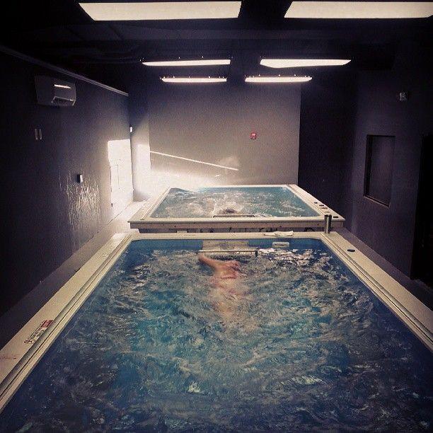 One room...two Endless Pools!   Indoor Pool Designs ...