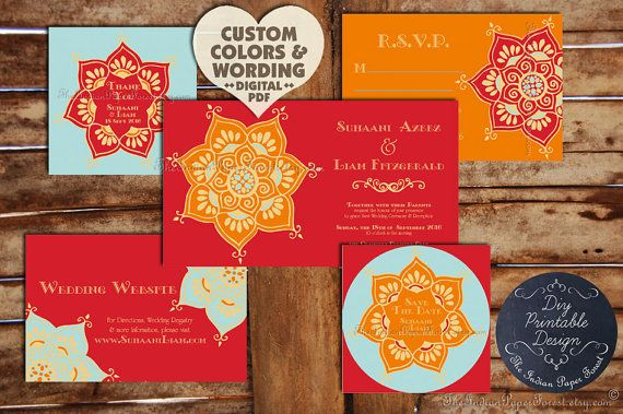 Boho chic indian wedding invitation set lotus flower design asian honoured to have my designs featured in the brides uk magazine website bespoke bride onewed weddingwindows wed loft where lilacs filmwisefo