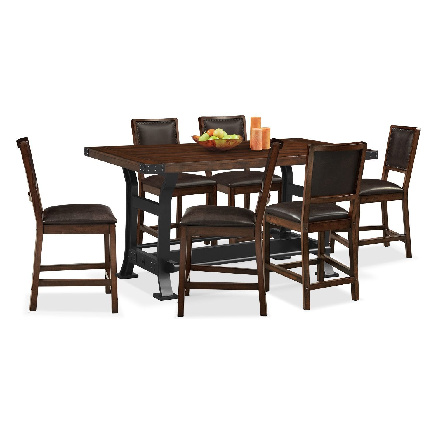 Newcastle counter height table and 6 chairs mahogany counter newcastle counter height table and 6 chairs mahogany watchthetrailerfo