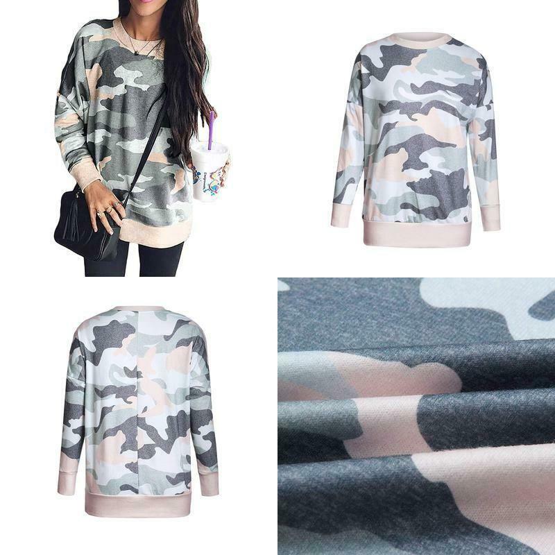 Shawhuwa Womens Long Sleeve Spring Thin Sweatshirt Loose T