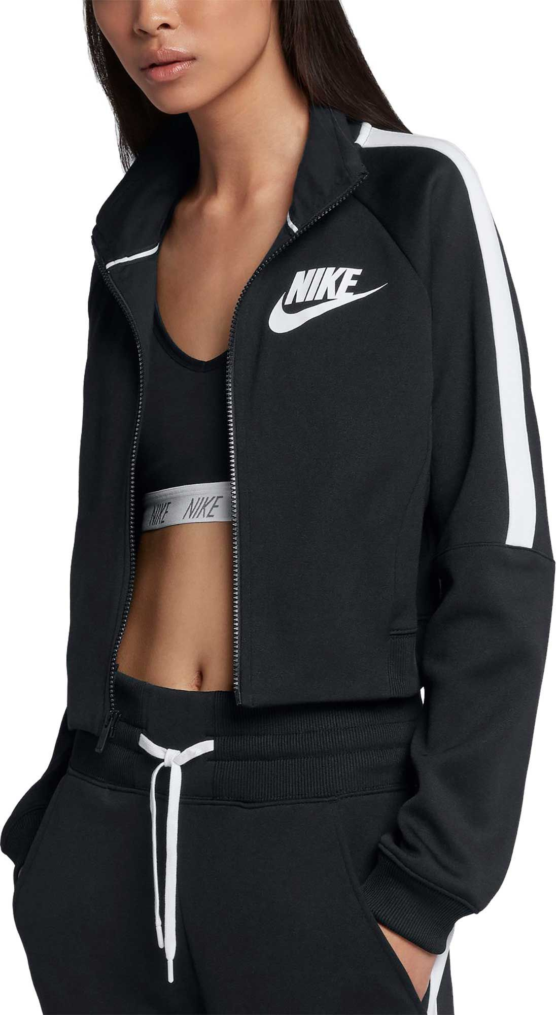 Nike Women's Sportswear N98 Cropped Track Jacket, Black in