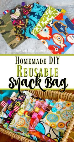 Easy Homemade Reusable Snack Bags - A Simple DIY Tutorial #beginnersewingprojects