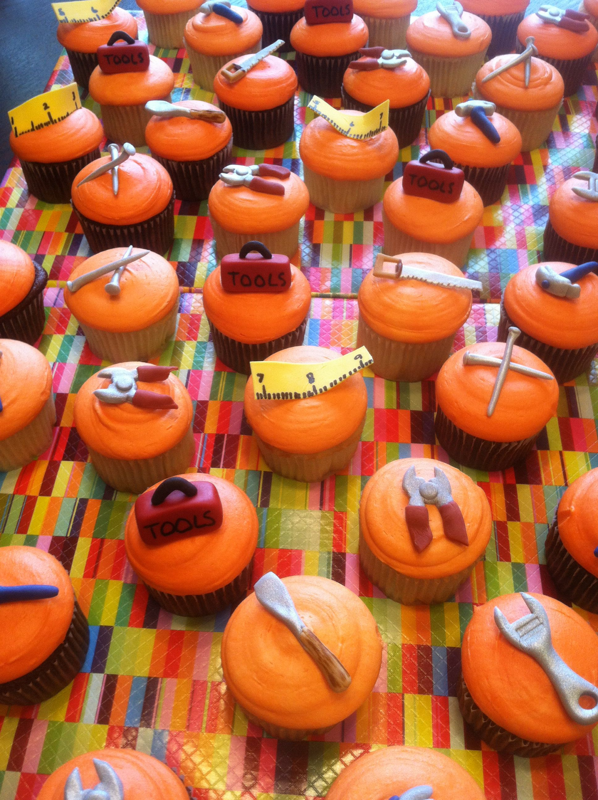 Home Depot Tool Themed Cupcakes My Cakes Pinterest
