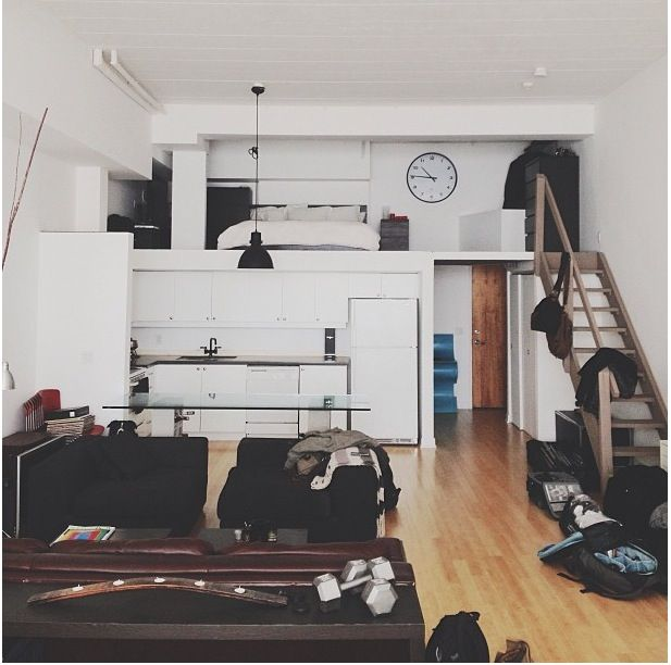 My dream loft. #white #loft #small
