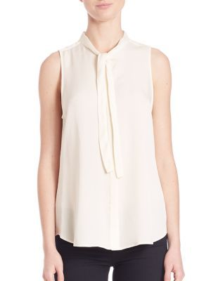 THEORY Jazlina Modern Tie Blouse. #theory #cloth #blouse
