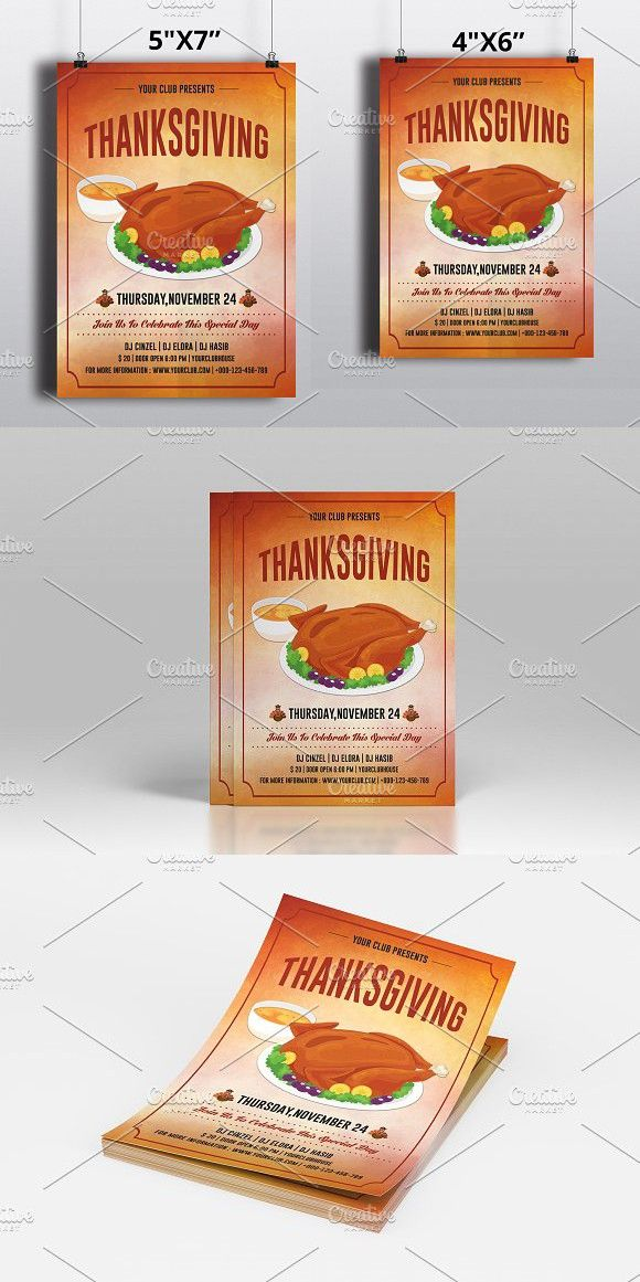 Thanksgiving Flyer Template-V435 Flyer template - Invitation Flyer Template