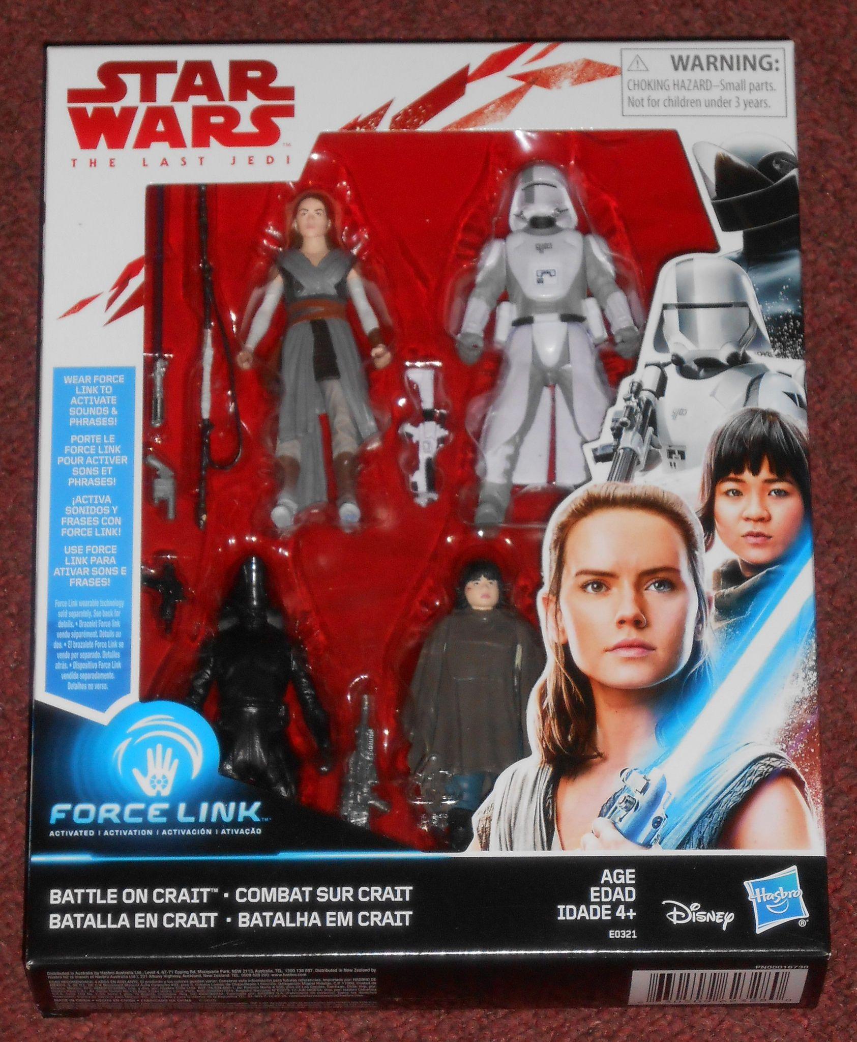 STAR WARS the Last Jedi Force Link 4 Battle pack action figures