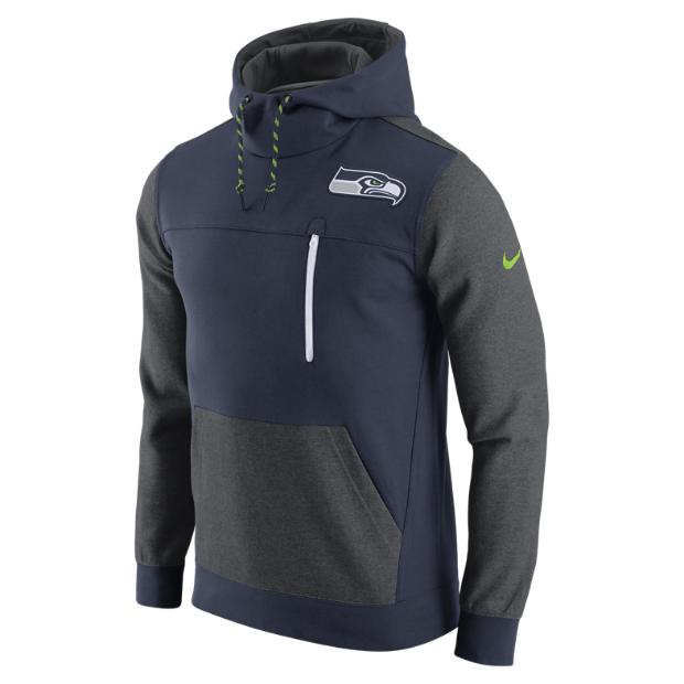 The Nike AV15 Fleece Pullover (NFL Seahawks) Men's Hoodie