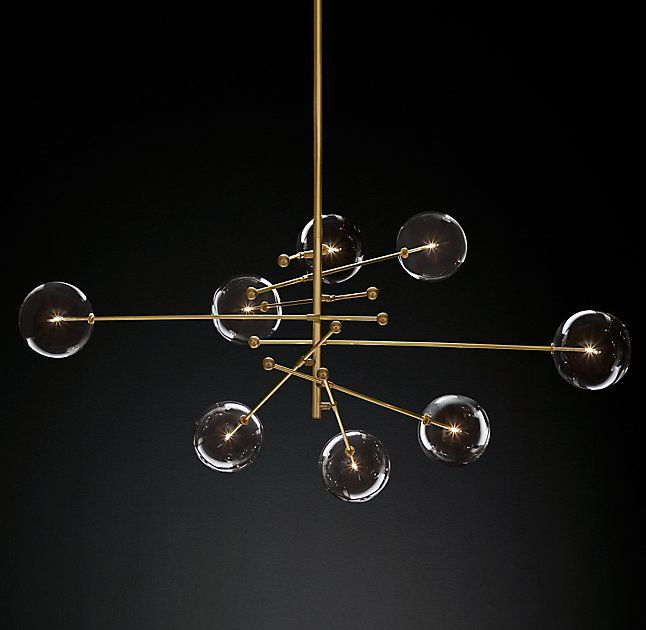 Glass Globe Mobile 8 Arm Chandelier 79 Dimensions Overall 67W X Modern GlassDining Room