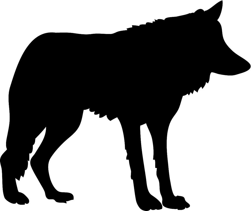 black wolf silhouette you can cut out or use for cameo great for making pictures and other silhoutte projects
