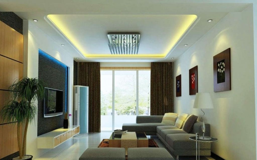 Living Room Ceiling Design India Red Color Innovative 3d False Designs For