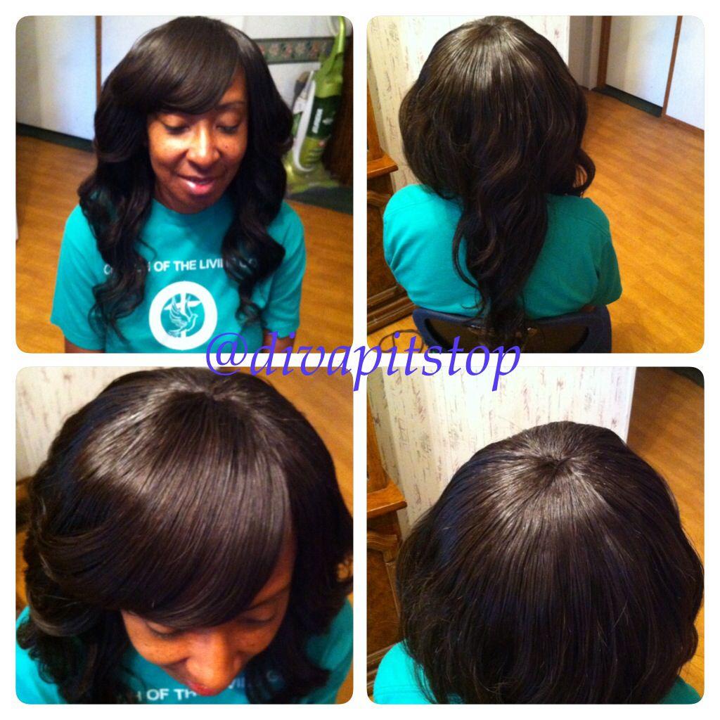 Full Sew In No Leave Out Instagram Divapitstop Beyouty Virgin Hair 12 14 16 From Www Divapitstop C Sew In Weave Hairstyles Sew In Hairstyles Weave Hairstyles