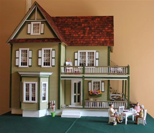 Victorias Farmhouse I Could Build This Dollhouse For You In The Color Of Your Choice