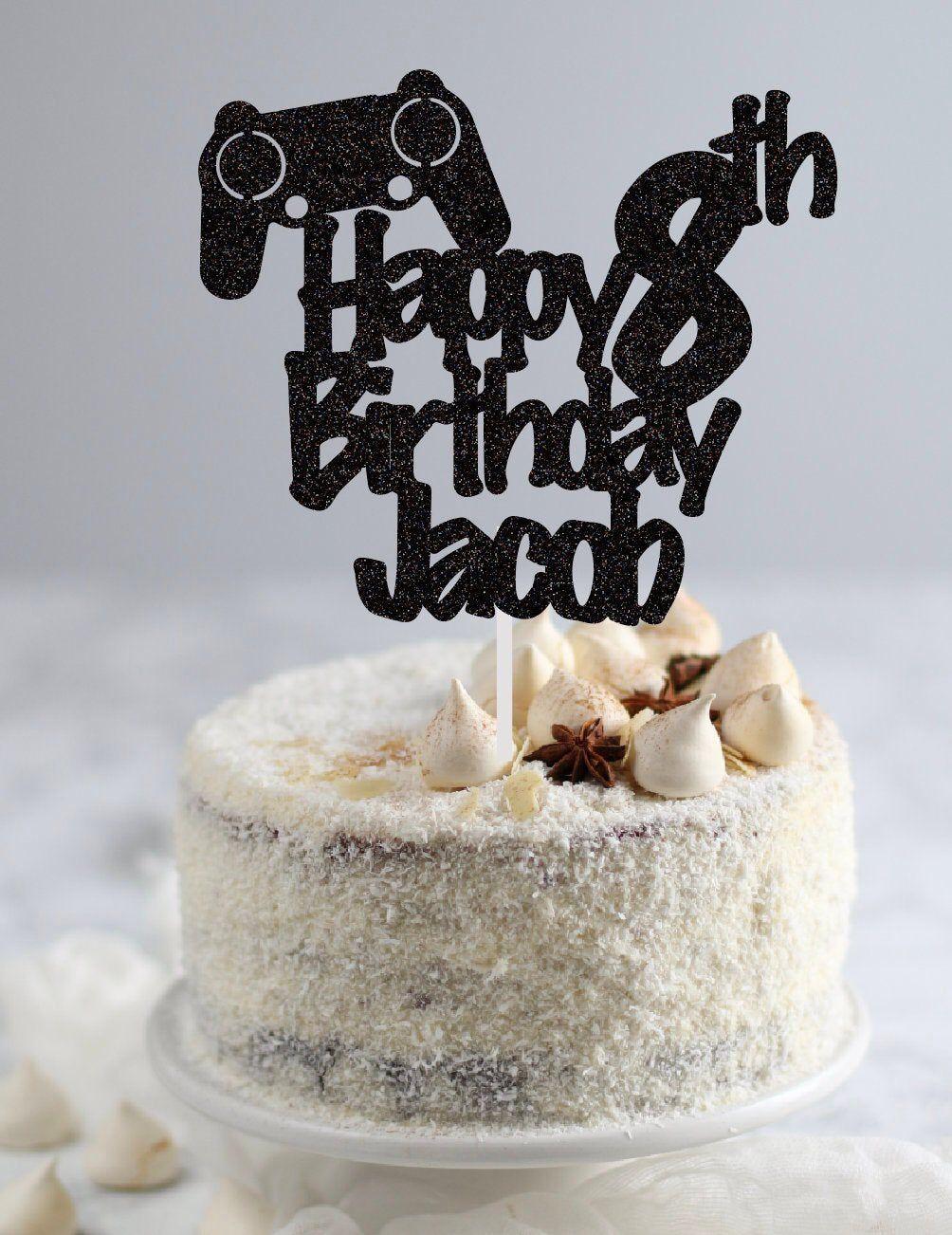 Video Game Birthday Cake Topper Gaming Cake Topper