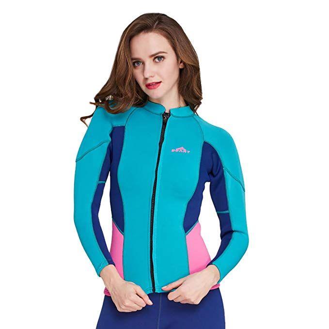 20fa597526 Amazon.com  Cahayi 2mm Neoprene Long Sleeve Diving Jacket Front Zipper  Women s Wetsuit Top  Sports   Outdoors  wetsuit  mensfashion  menswear   womenfashion ...