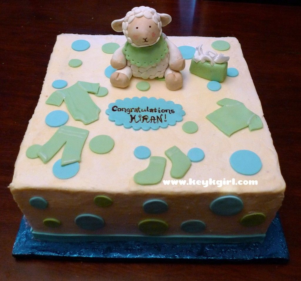 Decorate Baby Bibs Baby Shower Cake Lamb With Bib Gum Paste Decorating Ideas