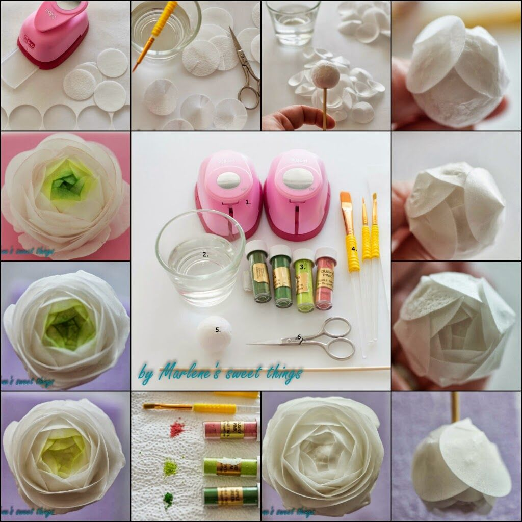 Marlene's sweet things: Ranunkel - Wafer Paper Flower