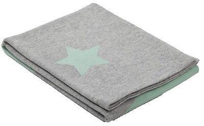 Mongolian Cashmere 100 Baby Blanket 100x100 Cm Gray Stars 300 Gr