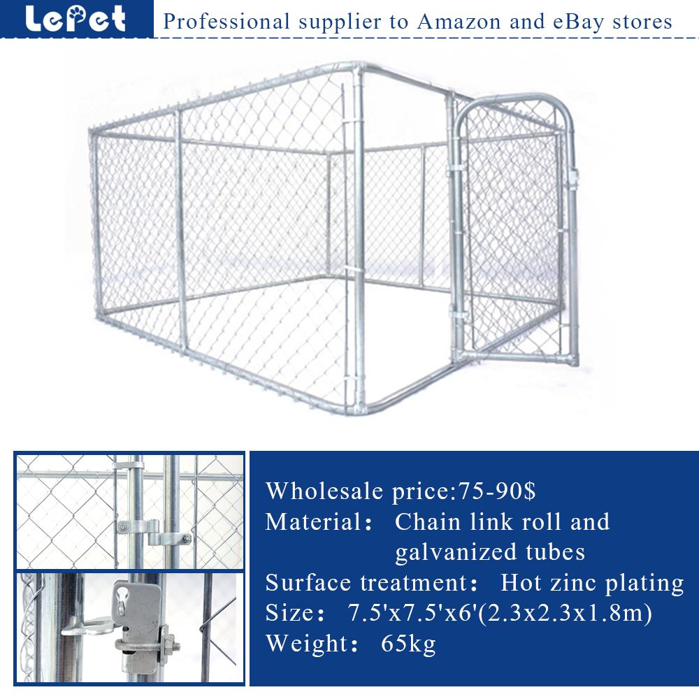 For Amazon and eBay store chain link rolling cheap galvanized dog ...