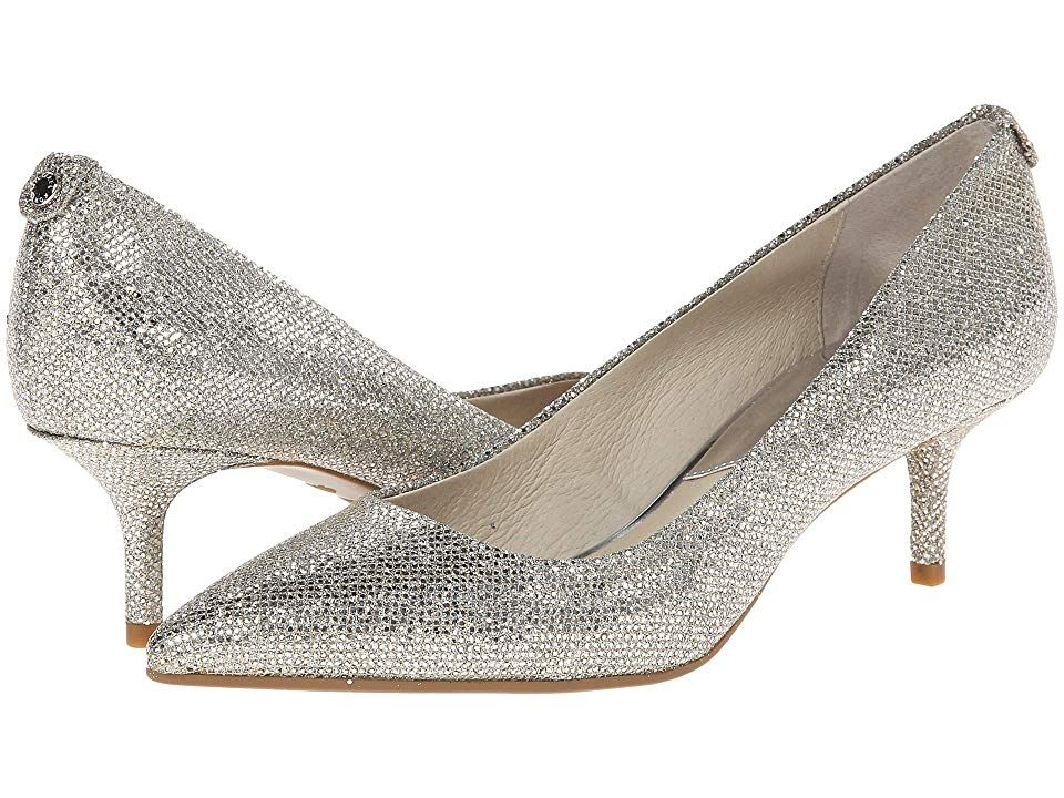 Shop MICHAEL Michael Kors Womens Flex Kitten Pumps Glitter