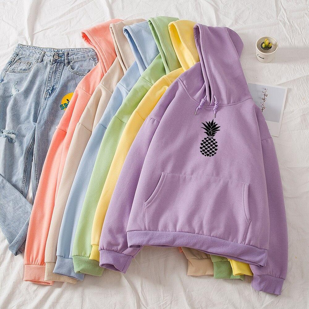 Womens Pineapple Hoodie Sweatshirt Jumper Hooded Pullover Tops Blouse Sweatshirts Hoodie Sweatshirts Girls Long Sleeve Tops [ 1000 x 1000 Pixel ]