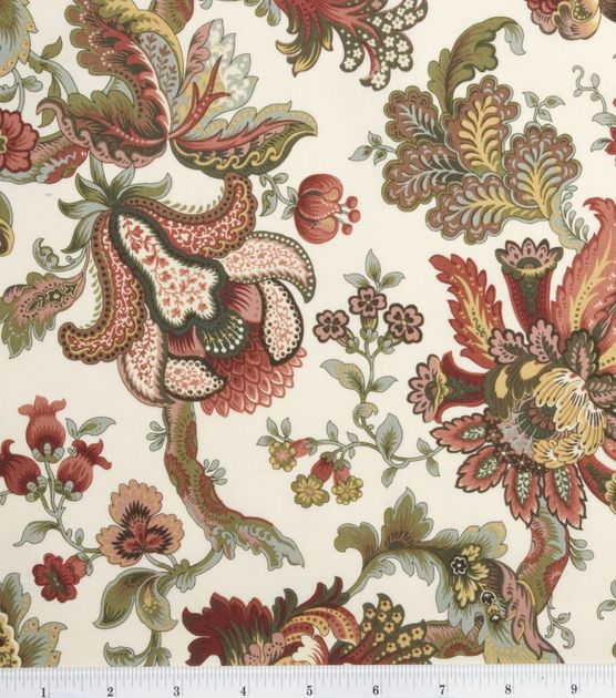 Legacy Studio Cotton Fabric-Hampton Court Jacobean Floral Tan & Premium Quilting Fabric at Joann.com