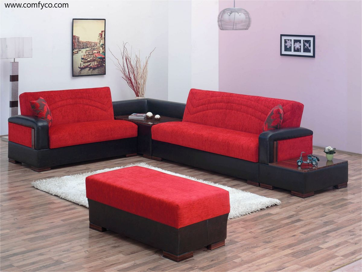 Julia Red Sectional Sofa in 2019 | For the Home | Sofa, Red ...