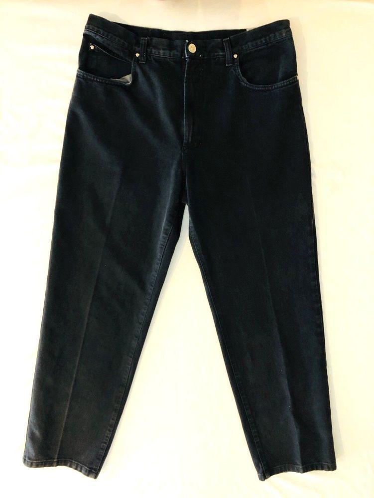 c85576bd5 VERSACE Jeans Couture 100% Cotton Black Jeans High Waist Vintage Womens  36/50 #Versace #BootCut
