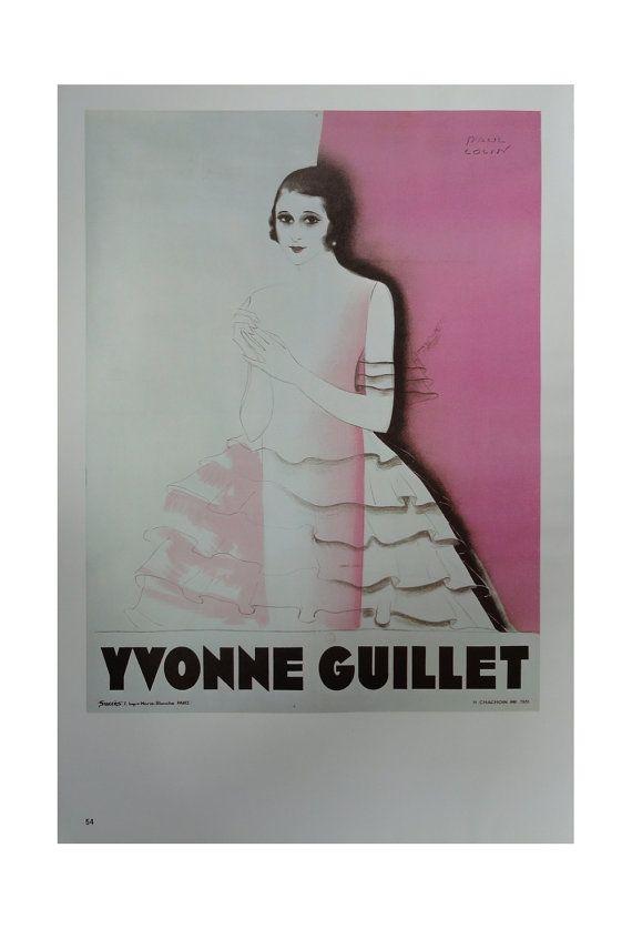 Vintage Paul Colin Poster, Yvonne Guillet Singer Dancer, Vintage Poster Print, Jack Rennert, USA,1977