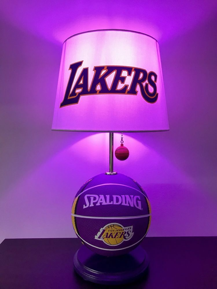 La Lakers Basketball Lamp Nba Sports Los Angeles Light