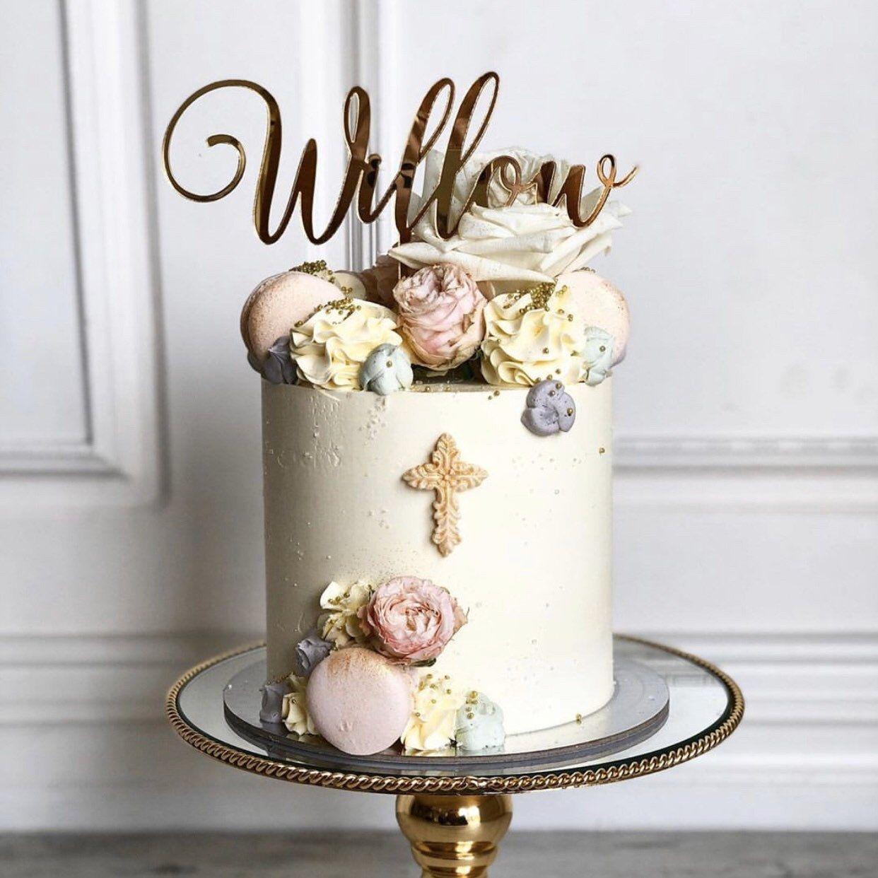 15++ Baptism cake topper australia inspirations