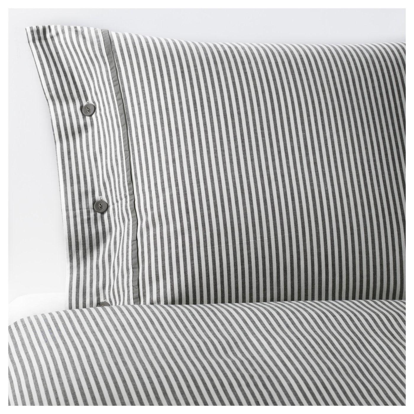 gray NYPONROS Duvet cover and pillowcase s King