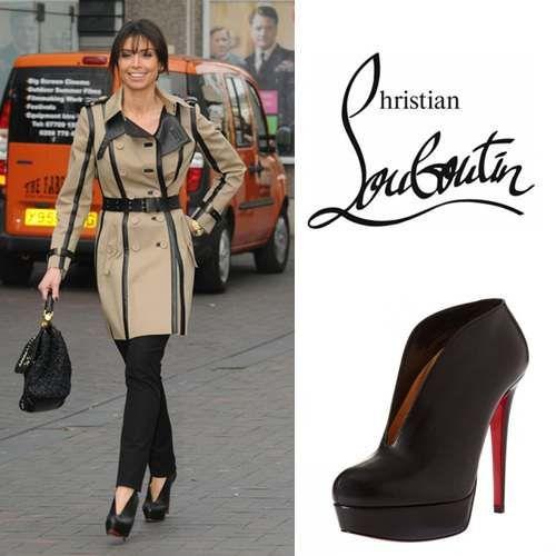 Christian Louboutin Miss Fast Schwarz Platform Ankle Stiefel