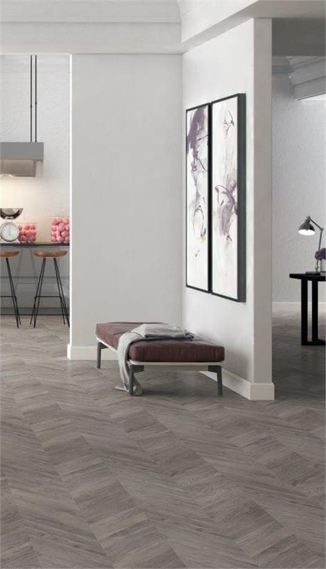 Grey Herringbone Laminate Flooring
